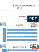 ANALYSIS OF UNION BUDGET 2015.ppt