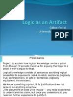 Logic as an Artifact