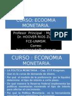 CURSO Economia Monetaria- Politica Monetaria