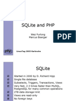 Manual SQLite and PHP