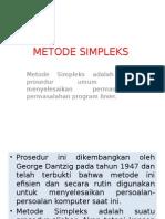 5. METODE SIMPLEKS