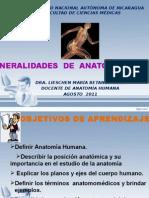 Generalidades de Anatomìa.