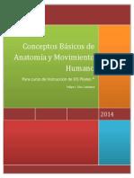 Conceptos Básicos de Anatomía y Movimiento Humano 2014