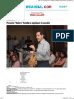 23-06-15 Presenta Maloro Acosta su equipo de transición