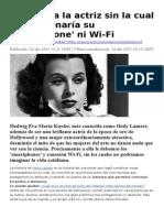 Conozca a La Actriz Sin La Cual No Funcionaría Su Smartphone Ni Wi Fi