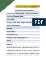 DCA-744 Metabolitos secundarios en alimentos y subproductos