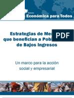 Estrategias de Mercado  que benefician a Poblaciones  de Bajos Ingresos