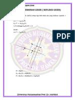 Latihan Soal Pencerminan Geser (Refleksi Geser)
