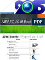 AIESEC 2015 Information Booklet