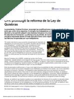Página_12 __ Ultimas Noticias __ CFK Promulgó La Reforma de La Ley de Quiebras