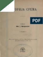 Историја Срема (1903.Год.) - Михаило Миладиновић