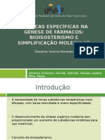 Seminário de Qf i Bioisosterismo