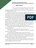 Orden Público Derecho Int. Privado