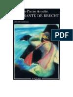 Jacques Pierre Amette La Amante de Brecht