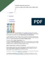 DIFERENCIAS DE WORD 2000,2007,2010,2013