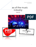 Unit 39 Four Areas of the Music Industry