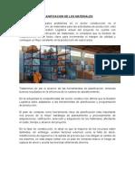 Planificacion y Proceso de Adquisicion de Los Materiales