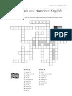 British and American English Crossword
