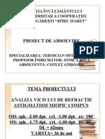 Prezentare Licenta TOTAL OPTIC