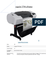CARACTERISTICAS DE UN PLOTER  DesignJet T790 ePrinter