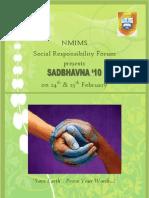 Sadbhavna '10 Proposal