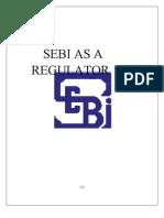 Sebi as a Regulator