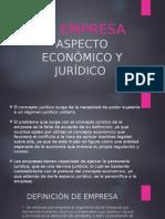 LA EMPRESA ASPECTO ECONOMICO Y JURIDICO.ppt
