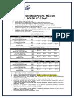 Promo Especial Mexico y Acapulco