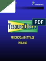 Tesouro Direto - Precificacao de Títulos Públicos
