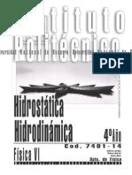 Hidrostática  - Hidrodinámica