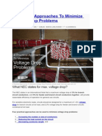 4 Practical Approaches to Minimize Voltage Drop Problems
