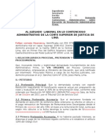 Formato de Demanda Contencioso Admnistrativa-proceso Urgente-con Devengados -Distrito Judicial de Lima[1]