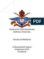 Faculty of Medicine Handbook
