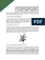 La Certificación ISO 14001 Tiene El Propósito de Apoyar La Aplicación de Un Plan de Manejo Ambiental en Cualquier Organización Del Sector Público o Privado