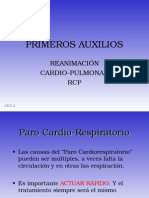 PRIMEROS AUXILIOS RCP