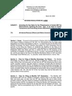 Revenue Regulation No. 4-2002