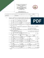 Math3 Test Paper