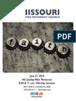 June 21, 2015 Bulletin