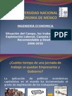 Situación del Campo, los trabajadores, la Explotación Laboral, Canasta Alimenticia Recomendable y Deuda