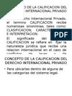 Concepto de La Calificacion Del Derecho Internacional Privado