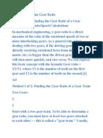 Determine Gear Ratio