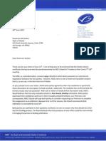 Marine Stewardship Council letter to Alaska Gov. Bill Walker