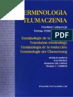 Terminologia Tłumaczenia - T. Tomaszkiewicz