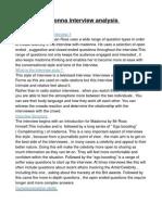 maddona interview analysis