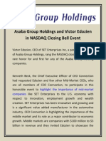 Asaba Group Holdings and Victor Edozien in NASDAQ Closing Bell Event