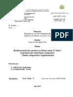 Renforcement Des Poutres en Beton Arme a l'Effort Tranchant Par Materiaux Composites