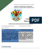 2do Informe de Instrumentos de Evaluación
