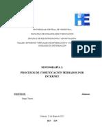 PROCESOS DE COMUNICACIÓN MEDIADOS POR INTERNET.