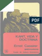 Cassirer, Ernst - Kant. Vida y Doctrina FCE