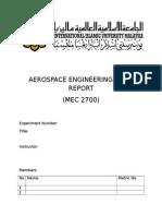 Aerospace Engineering Lab 1 Report